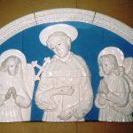 Trittico Robbiano cm.120x60 (Chiesa Nuova Assisi)