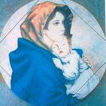 Tondo Madonna Ferruzzi diam.cm.60 dipinto a mano